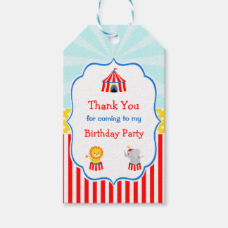 Big Top Circus Carnival Gift Tag
