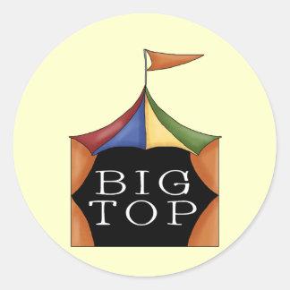 Big Top Circus Tent Classic Round Sticker