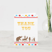 Big Top Circus Thank You Card