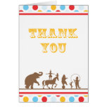 Big Top Circus Thank You Card