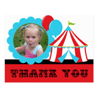Big Top Circus Thank You Postcard