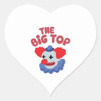 Big Top Clown Heart Sticker