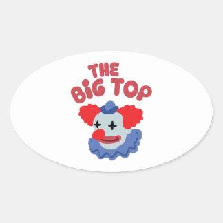 Big Top Clown Oval Sticker