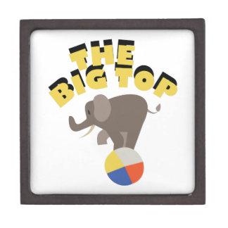 Big Top Elephant Premium Trinket Box