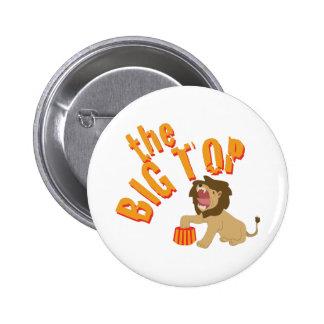 Big Top Lion 2 Inch Round Button