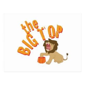 Big Top Lion Postcard