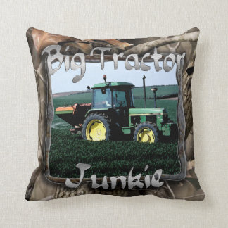 Big Tractor Junkie Throw Pillow
