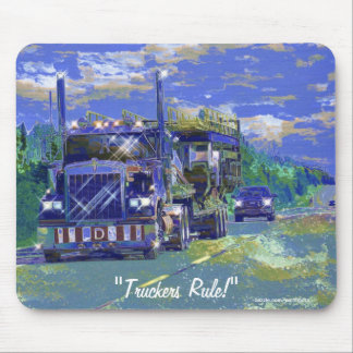 Big Transporter Truck Highway Driving Art Mousepad