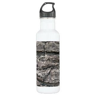 Big tree bark texture stainless steel water bottle