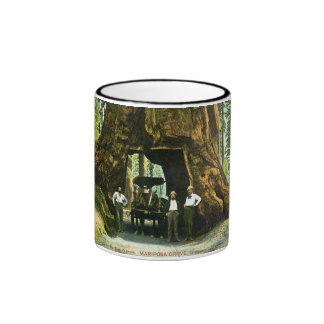 Big Tree Wawona, Mariposa Grove, CA Vintage Ringer Coffee Mug