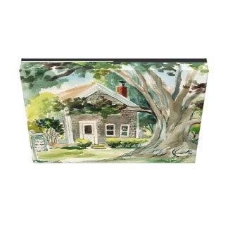 Big Tree West Tisbury watercolor painting Canvas Print