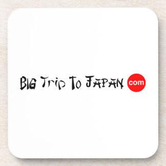 Big Trip To Japan Hard Plastic coasters cork 6