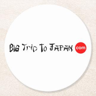 Big Trip To Japan Paper Round Round Paper Coaster