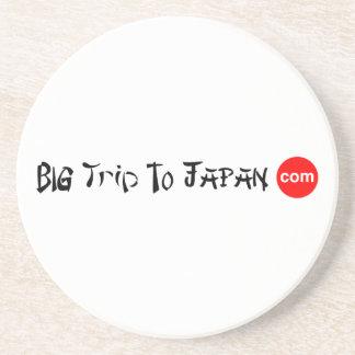 Big Trip To Japan Sandstone Drink Coaster