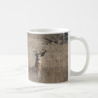 Big Trophy Buck Deer in Tall Grass Camo Coffee Mug