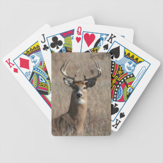 Big Trophy Buck Deer in Tall Grass Camo Playing Cards