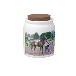 Big Trouble wins the 100th Sanford Stakes Candy Jar