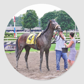 Big Trouble wins the 100th Sanford Stakes Classic Round Sticker
