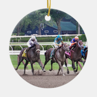 Big Trouble wins the 100th Sanford Stakes Double-Sided Ceramic Round Christmas Ornament