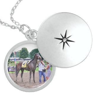 Big Trouble wins the 100th Sanford Stakes Locket Necklace