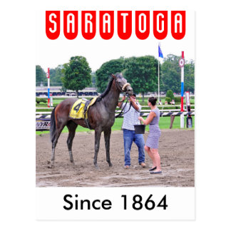 Big Trouble wins the 100th Sanford Stakes Postcard