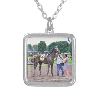Big Trouble wins the 100th Sanford Stakes Silver Plated Necklace