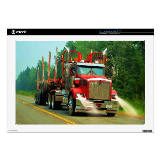 """Big Truck and Highway Art for Lorry-lovers 17"""" Laptop Skins"""