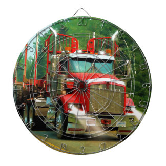 Big Truck and Highway Art for Lorry-lovers Dart Board