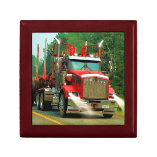 Big Truck and Highway Art for Lorry-lovers Jewelry Box