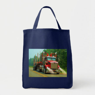 Big Truck and Highway Art for Lorry-lovers Tote Bag