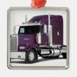 big truck christmas tree ornament