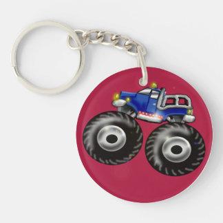 big truck Double-Sided round acrylic keychain