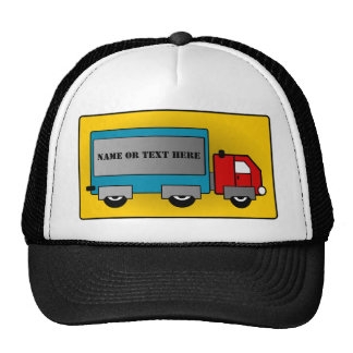 Big Truck - Freight Carrier, Add Your Name or Text Trucker Hats