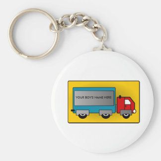Big Truck - Freight Carrier, Add Your Name or Text Keychain