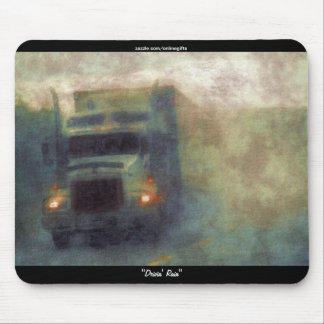 Big Truck Highway Driving in the Rain Art Mousepad