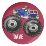 big truck party plate