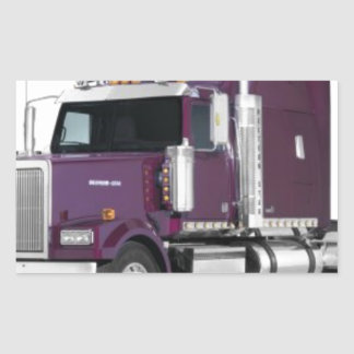 big truck rectangular sticker