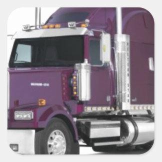 big truck square sticker
