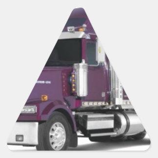 big truck triangle sticker