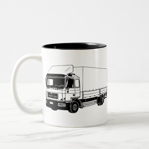 Big Truck Two-Tone Coffee Mug
