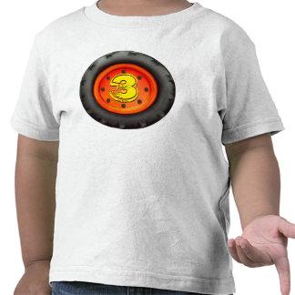 Big Truck Wheel 3rd Birthday Tshirts