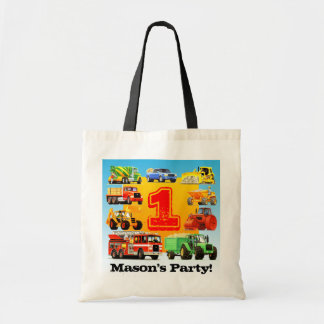 Big Trucks 1st Birthday Party Tote Bag