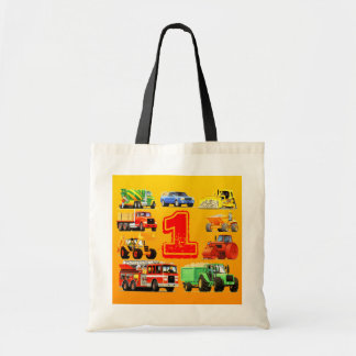 Big Trucks 1st Birthday Tote Bag