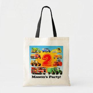 Big Trucks 2nd Birthday Party Tote Bag