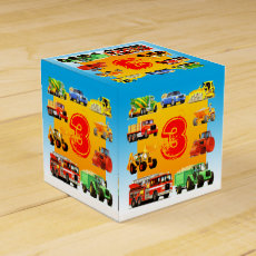 Big Trucks 3rd Birthday Favor Box