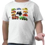 Big Trucks 4th Birthday Tee Shirts