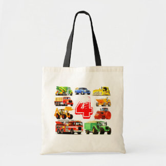 Big Trucks 4th Birthday Tote Bag