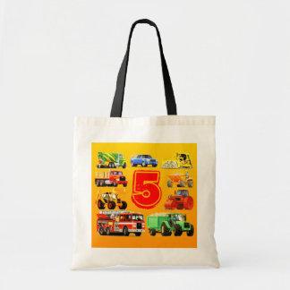Big Trucks 5th Birthday Tote Bag