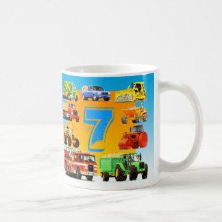 Big Trucks 7th Birthday Coffee Mug