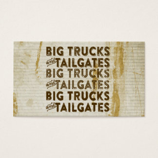 Big Trucks and Tailgates Business Card